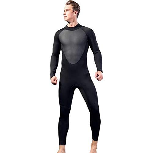 SNOWINSPRING Traje de Buceo Traje de Neopreno Completo para Hombre Traje de Neopreno de 3 Mm Traje de Neopreno EláStico de Manga Larga para Surf EsnóRquel L