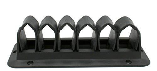 1 soporte para cables con lengüetas – Pasacables para una gestión de cables ordenada (para atornillar, 4 pestañas), color blanco.