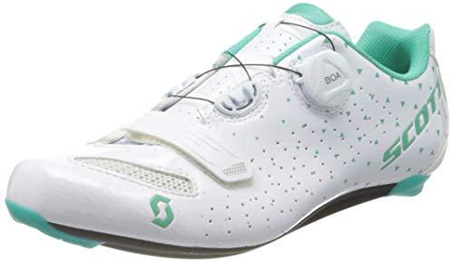 Scott 251824 Road Comp Boa Lady gl wh/tq bl 37.0 Unisex - Erwachsene Schuhe, Unisex, Gl Wh Tq Bl, 39 EU