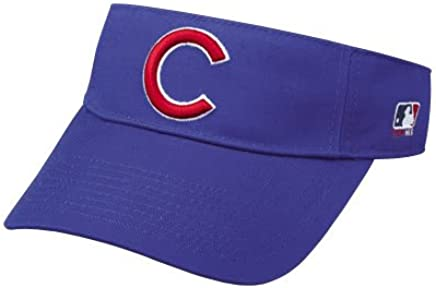 5a7a1a68 Amazon.com : Chicago Cubs Officially Licensed MLB Adjustable Velcro Adult  Visor : Sports Fan Visors : Clothing