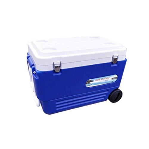 Cooler Box Elektrische koelbox - Outdoor Multifunctionele Vriezer Met Wielen - Blauw