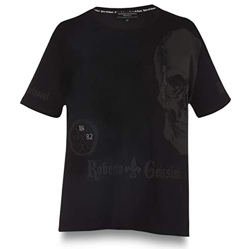 T-Shirt Black Diamond Skull Simple Men Black 4XL