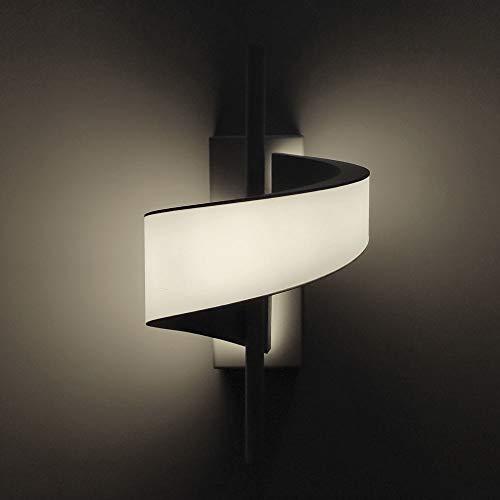 Lámpara pared LED 12W blanco, aplique decoración, diseño moderno, interior casa pasillo hogar dormitorio, Bajo consumo, Luz Cálida 3000K