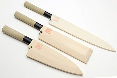 YOSHIHIRO- Japanese Sushi Chef Kasumi Knife 3p Set [Yanagi270/Usuba195/Deba180]