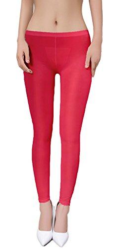 zukzi Womens Sexy Lingerie See Through Leggings Sheer Leggings Multi-Colors, Black Color, L/XL