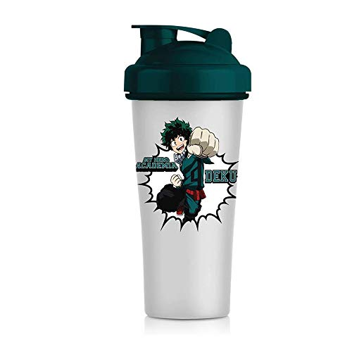 JUST FUNKY My Hero Academia Blender Shaker Bottle 20 oz Best Portable Pre Workout Whey Protein Drink Shaker Cup, Mixes Cocktails, Smoothies and Shakes, Dishwasher Safe