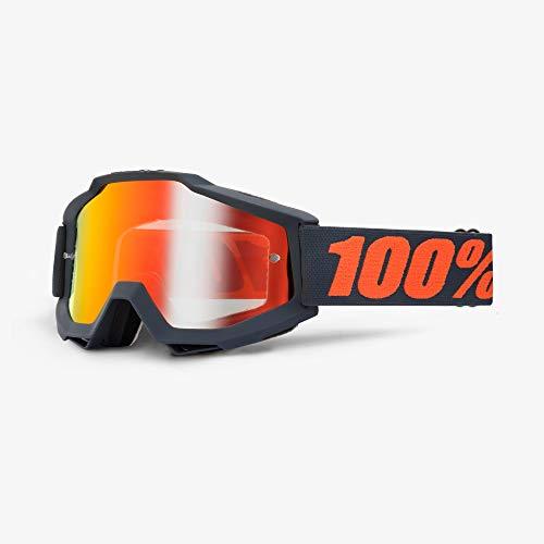 100% ACCURI Brille Matte Gunmetal - Spiegel Linse, Rot , Größe One Size