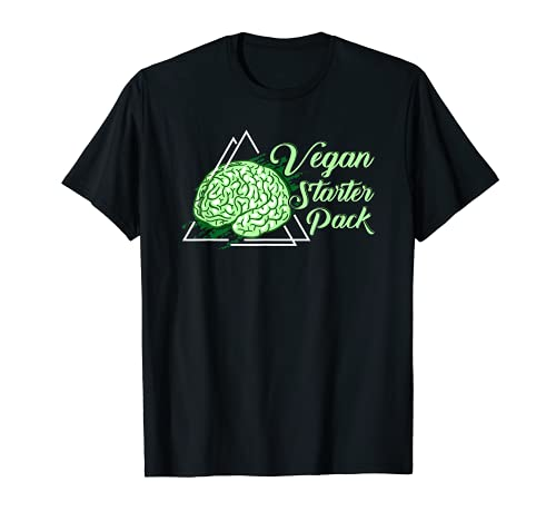 Vegan Starter Pack Shirt Green Brain Tee Tierrechte Tee