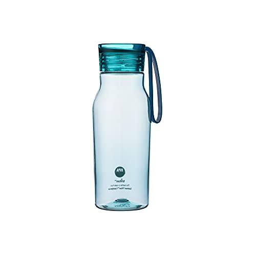DSFHKUYB Botella de Agua Deportiva, con Cuerda Botella de Bebidas de plástico para Gimnasio, Ciclismo, fútbol, Correr, Senderismo,Verde,350ml