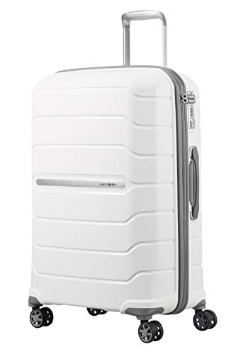 SAMSONITE Flux - Spinner 75/28 Expandable Suitcase, 75 cm, 121 liters, White