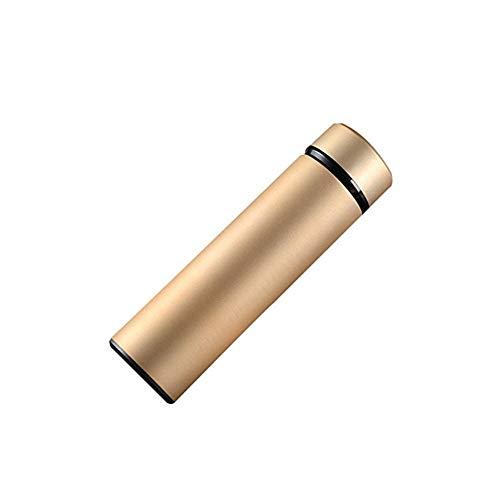 BANAMANA Vakuumisolierte Wasserflaschen Flasche Sportflasche Double Wall Isolierung kalte Wasserflasche 460ml Gold