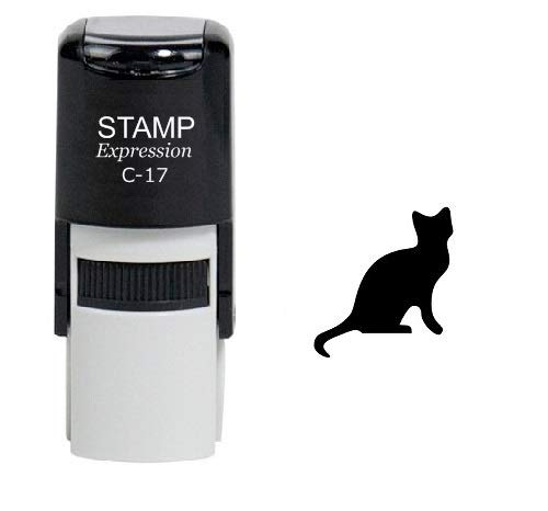 StampExpression - Female Cat Self Inking Rubber Stamp - Black Ink (A-6068)