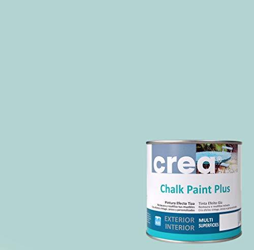 Pintura a la Tiza – Chalk Paint – Pinturas para decoración, restauración de muebles, madera – Pintura efecto Tiza (500ml) (Verde Hielo)