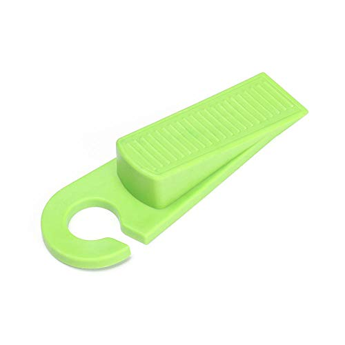 Warmwin 1/3 Pieza en Forma de Gancho en Forma de cuña Tope de Puerta Protector de Puerta Mudo Protector de Seguridad para bebés para Evitar Lesiones en los Dedos Oficina en casa Green_3pcs