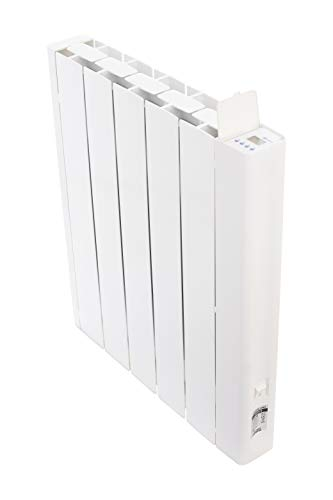 Haverland RCO-5 | Emisor Térmico Fluido Bajo Consumo | 1000 W | 5 Elementos | Programación con Conexión Inalámbrica Bluetooth | Diseño Ultra-Compacto | +/- 11-15 m² | Blanco