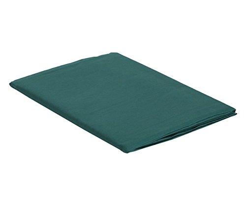 Italian Bed Linen Max Color Telo Copritutto in Tinta Unita, 100% Cotone, Verde Petrolio, Singolo, 170 x 300 cm
