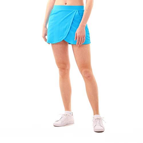 Sportkind Mädchen & Damen Tennis, Hockey, Golf Wickelrock mit Taschen & Innenhose, türkis neu, Gr. 116