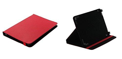 Markenlos Libro Tablet PC Funda Carcasa Funda Rojo + Stand Función Archos 101Platinum