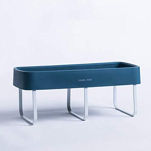 OLDJTK Cuarto de baño con toallero Individual Autoadhesivo, sin punzonado, Caja de jabón, Fregadero, Estante Cuadrado con Ventosa