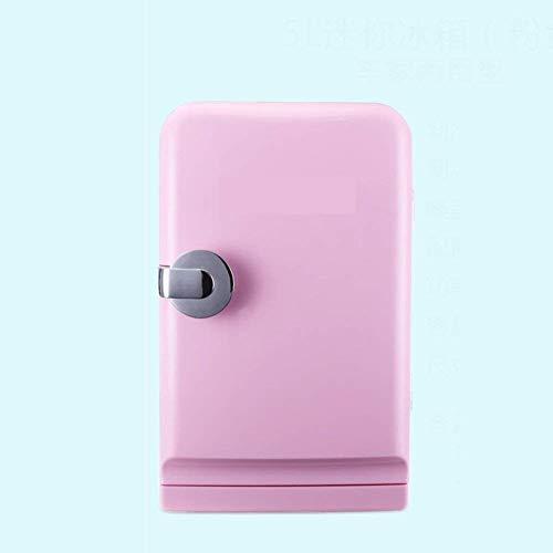 NLRHH Mini refrigerador de Coches, refrigerador 5L Fresco Mini refrigerador pequeño hogar portátil Compacto Nevera Personal Enfriar Calientes-Rosa 31.5x28x19cm (12x11x7inch) Peng
