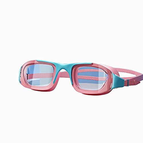 Gafas De Natación para Hombres Y Mujeres Impermeables Y Anti-Niebla HD Profesional Big Marco De Natación Tapa De Natación Gafas De Buceo Gafas Profesionales Equipadas,Verde