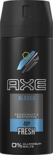 AXE Deospray für ein langanhaltendes Frischegefühl Alaska 0% Aluminiumsalze, 3 x 150 ml