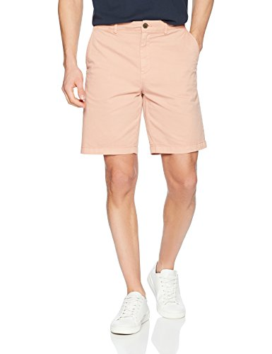 Amazon Brand - Goodthreads Men's Slim-Fit 9' Inseam Flat-Front Comfort Stretch Chino Shorts, muted clay, 33