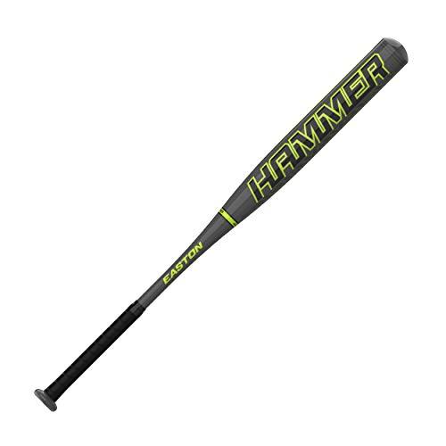 Easton Hammer Power Loaded Slowpitch Softball Bat, 34 28, 12 Barrel, 1PC Aluminum, SP21HM, Dual Stamp, Multicolor