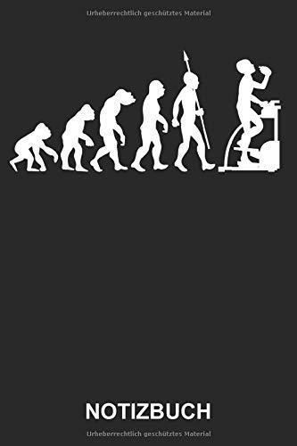 Notizbuch: Fitness Stepper Heimtrainer Gym Sport Fitnesscenter Fitnessstudio Evolution   Lustiges Niedliches Tagebuch, Notizheft, Schreibheft   ca. A5 mit Linien   120 Seiten liniert   Softcover