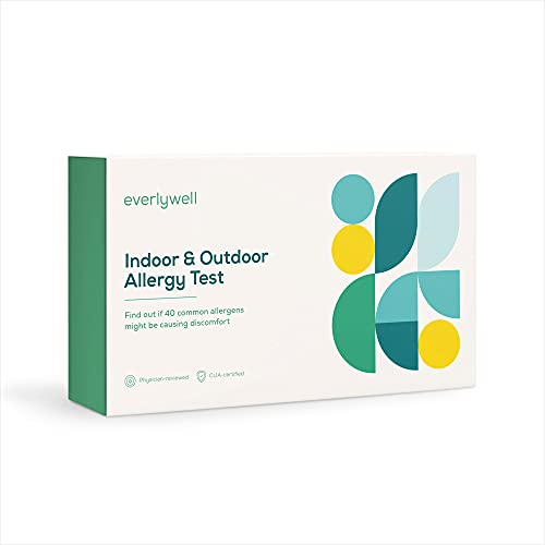 Everlywell Indoor & Outdoor Allergy Test - at Home - CLIA-Certified Adult Test - Personalized, Accurate Blood Analysis (40 Common Allergens) - Not Available in NY, NJ, RI