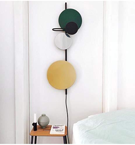 MJSM Light Wandlampen, creatieve verlichting, voor slaapkamer, persoonlijkheid, achtergrond, nachtkastje, klein groen (breedte 23 x 50 cm) _wit licht