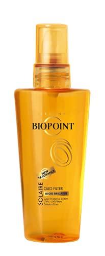 Biopoint Olio Solare Per Capelli Effetto Glossato 100 ml - Nutre e Rivitalizza i Capelli, Donando un Effetto Liscio, Ordinato e Brillante