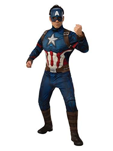Rubie's Offizielles Avengers Endgame Captain America, Deluxe Erwachsene Herren Kostüm Size: Standard