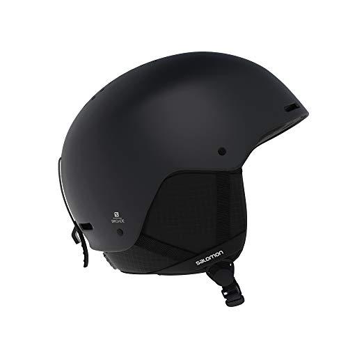 SALOMON Brigade Casco de esquí y Snowboard para Hombre, Carcasa ABS, Interior de Espuma EPS 4D, Circunferencia, Negro, L (59-62 cm)