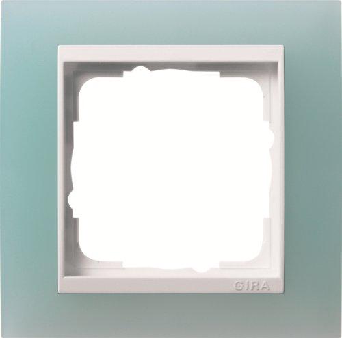 Gira 0211395 Abdeckrahmen 1-Fach für reinweiß Event opak, Mint
