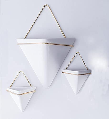 Finally popular brand 3 Set Metal Hanging pots for Plants 2 Max 43% OFF Decor 1 Wall Large and
