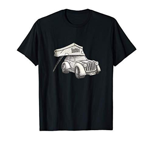 Dachzelt Camper mit Oldschool 4-Wheel Truck Dachzelten T-Shirt