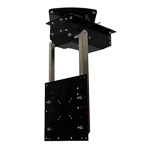 pushMINI+ROTO - TV Deckenhalterung elektrisch schwenkbar, klappbar, neigbar, drehbar um 360° - für bis 55 Zoll Fernseher bis 22,5 Kg - Monitor Halter für Decke VESA bis 300x300 mm