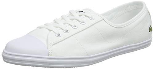 Lacoste Ziane BL 2 CFA, Zapatillas Mujer, White/White, 42 EU