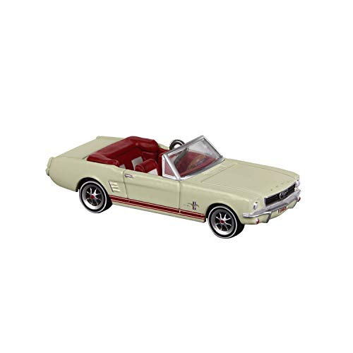 Hallmark Keepsake Mini Christmas Ornament 2019 Year Dated 1966 Lil' Classic Cars Miniature, Metal, 0.57', Ford Mustang