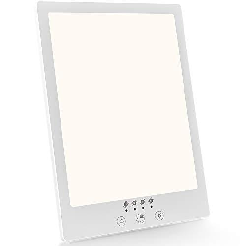 Nertpow Tageslichtlampe,12000 Lux Tageslichtleuchte UV Freie LED Lichttherapielampe,Einstellbare Helligkeitsstufen,mit Touch Steuerung,mit Timer,mit Multi Winkel Ständer