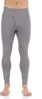 Bodtek Mens Thermal Underwear Pants Premium Long Johns Fleece Lined Base Layer Bottom (Grey, Medium)