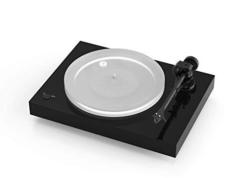 Pro-Ject X2, Plattenspieler mit elektronischer Geschwindigkeitsumschaltung, Carbon Tonarm und Acrylplattenteller (inkl. Ortofon 2M Silver), Piano Schwarz