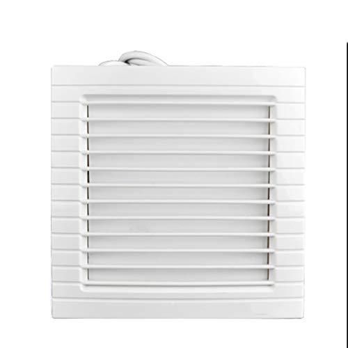 LANDUA Ventilador de ventilación, Ventiladores extractores de baño tabique Fuerte habitación Ventilador de ventilación, plástico de la casilla Blanca Extintor