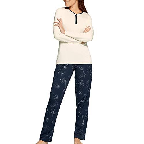 Impetus Woman - Pijama floral de algodón Modal Garden gris 38-40