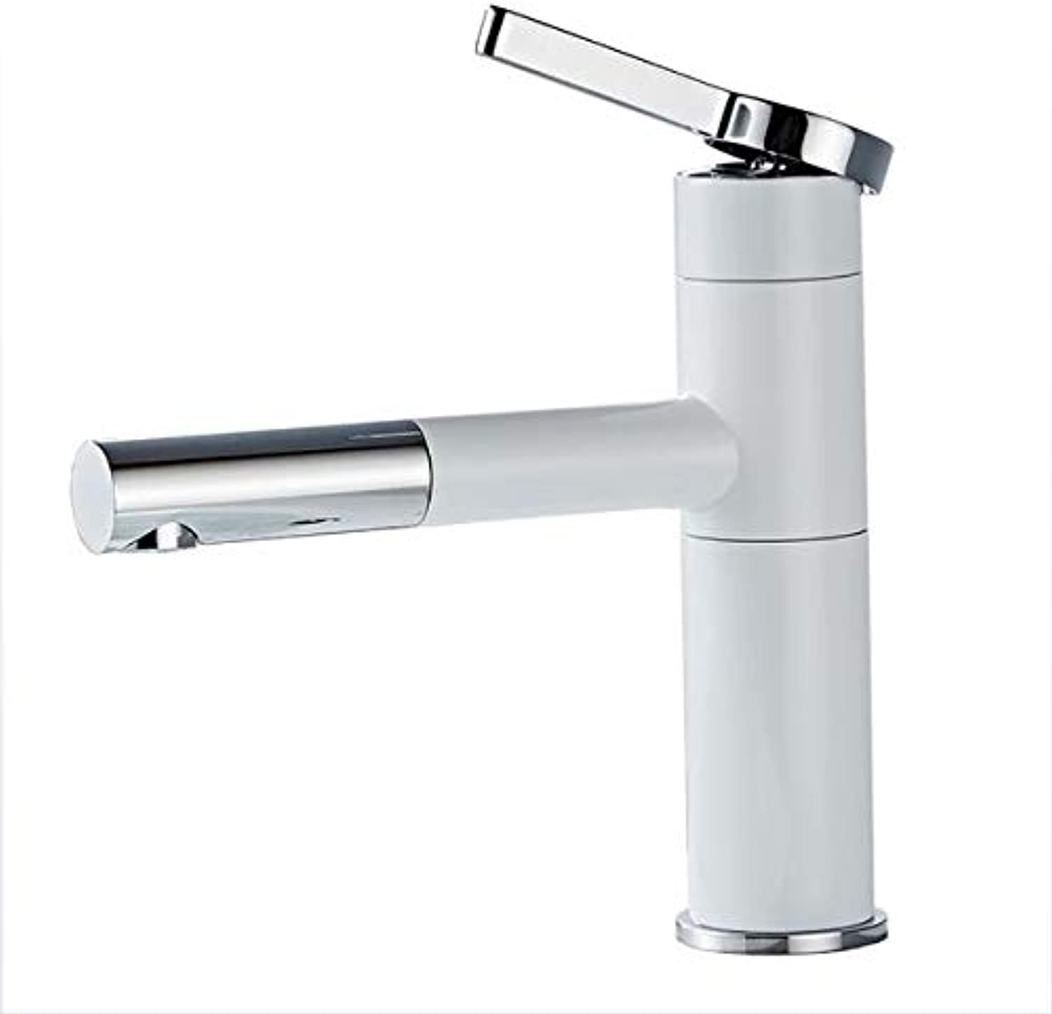 GAOXP Basin Faucet, Pull-Out redating Sink Faucet, Extended Spout Faucet Hot and Cold Mixing Faucet, Sleek Minimalist