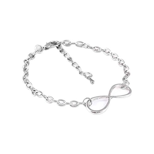 Huit Forme Infini Symbole chanceuses chaîne main Amitié Infini Bracelet