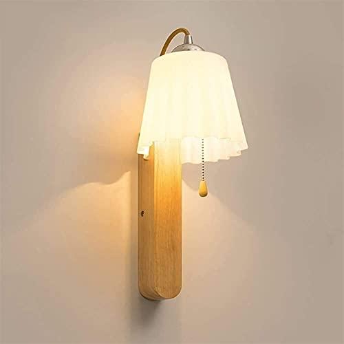 hwljxn Luz de Techo Simple Moderna Moderna japonés de Madera Maciza lámpara de Pared nórdica Pasillo escaleras Espejo de baño lámpara Delantera lámpara de Noche lámpara de Noche
