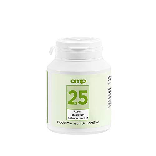 Schüssler Salz Nr. 25 Aurum chloratum natronatum D12 | 400 Tabletten | Das Salz für alle Körperrhythmen | glutenfrei