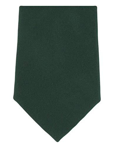 Michelsons of London Cravate en soie vert simple de